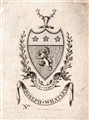 An 18th century armorial bookplate for Whatley