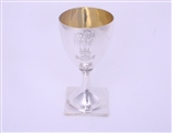 GLAZEBROOK FAMILY: A George III sterling silver goblet