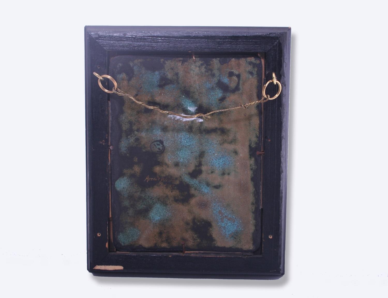Fine Arts Amp Crafts Armorial Enamel Framed Plaque