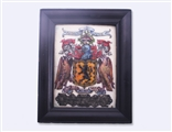 Fine Arts & Crafts armorial enamel framed plaque
