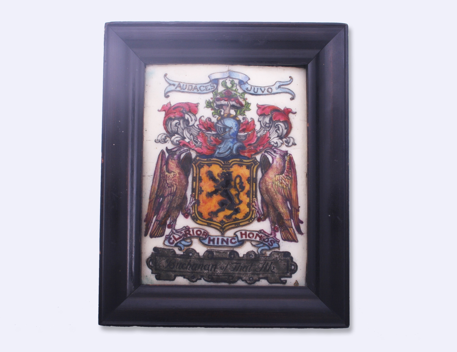 Fine Arts Amp Crafts Armorial Enamel Framed Plaque