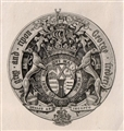 A 19th Century bookplate for Earl de Grey and Ripon