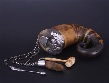 A rare and impressive 19th century Scottish silver mounted snuff mull