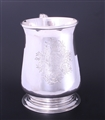 A fine and large provincial George II sterling silver mug