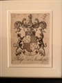An early 18th century armorial bookplate for Stanhope