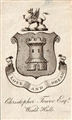 An early 19th century armorial bookplate for Tower