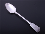 A George IV fiddle pattern sterling silver gravy spoon