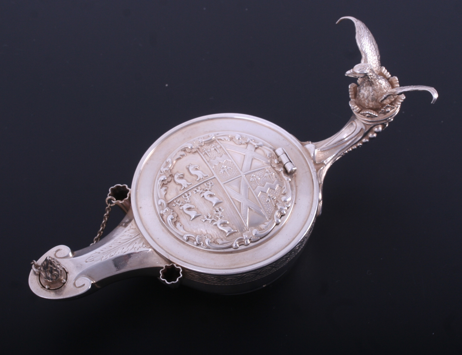 A Rare And Unusual 19th Century French Silver Inkstand