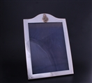 A George V sterling silver regimental photograph frame