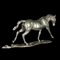 A fine sterling silver model of a horse