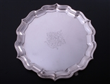 A Victorian sterling silver small salver