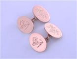 A pair of Edwardian 9ct rose gold gentleman's cufflinks