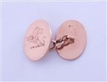 A pair of Edwardian 9ct rose gold gentleman's cufflinks