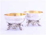 A pair of Victorian sterling silver salt cellars