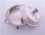 A pair of George IV Old Sheffield silver plate vegetable dishes and covers