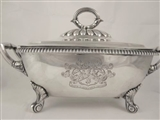 A fine George III sterling silver sauce tureen and cover