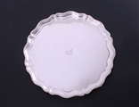 An Edwardian sterling silver salver