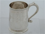 George II silver mug London 1730 John Gamon