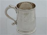 George II silver mug London 1730 John Gamon