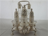 George II silver Warwick cruet London 1748 Samuel Wood