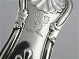 Georgian King's Pattern Silver Basting Spoon