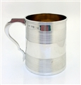 Antique George III Sterling Silver Half Pint Mug 1813