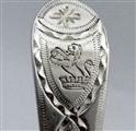 Antique George III Sterling Silver Bright Cut Teaspoon c. 1780