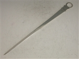 GEORGE III ANTIQUE IRISH SILVER MEAT SKEWER