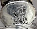 Antique George III Sterling Silver Claret Bottle Ticket / Decanter Label 1805