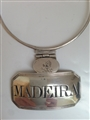 Antique George III Sterling Silver Madeira Decanter Label Bottle Ticket 1805