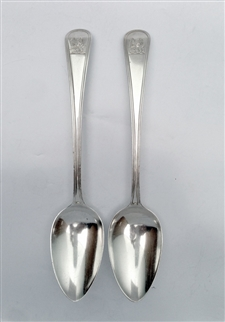Antique George III Old English Thread Pattern Set of Four Dessert Spoons 1813