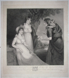 Antique portrait print of the Marchioness of Donegall