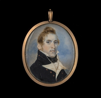 Portrait Miniature of Lieutenant Daniel Pring RN (c.1788-1846), Canadian Hero Of The War Of 1812