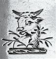 Antique Sterling Silver George II Hanoverian Pattern Teaspoon c.1735