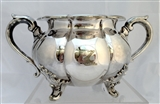 Antique Victorian Transitional Silverplated Victorian Sugar Bowl c.1845