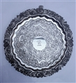 Antique Victorian Old Sheffield Plate Rococo Revival Pattern Salver Circa 1830