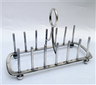 Antique Silverplated Modernist Toast Rack Circa 1900