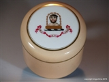 Ridgway Pot with Armorial Porcelain BROWN - WESTHEAD crest