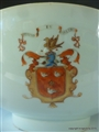 Chinese Porcelain Armorial Porcelain Bowl with MAKGILL MCGILL  MACGILL Family & Clan Arms. Qianlong Emperor 中国纹章瓷板乾隆帝