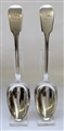 A Pair of Antique Sterling Silver William IV Fiddle Pattern Serving Spoons 1832