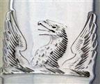 Antique Victorian Silver Plate Cream Pail Circa 1850