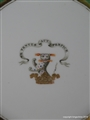 Worcester Flight Barr Barr Plate Armorial Porcelain SPARKE Sparkes West Lodge Hall Family Coat Arms Crest