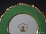 Worcester Flight Barr Barr Plate Armorial Porcelain SPARKE Sparkes West Lodge Hall Family Coat Arms Crest