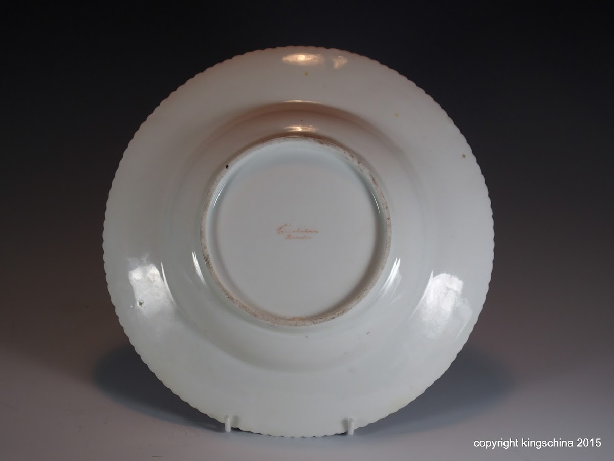 Chamberlains Worcester Plate Armorial Porcelain Neeld