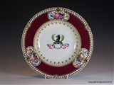 Chamberlains Worcester Plate Armorial Porcelain  NEELD Grittleton House, Family Coat Arms Crest