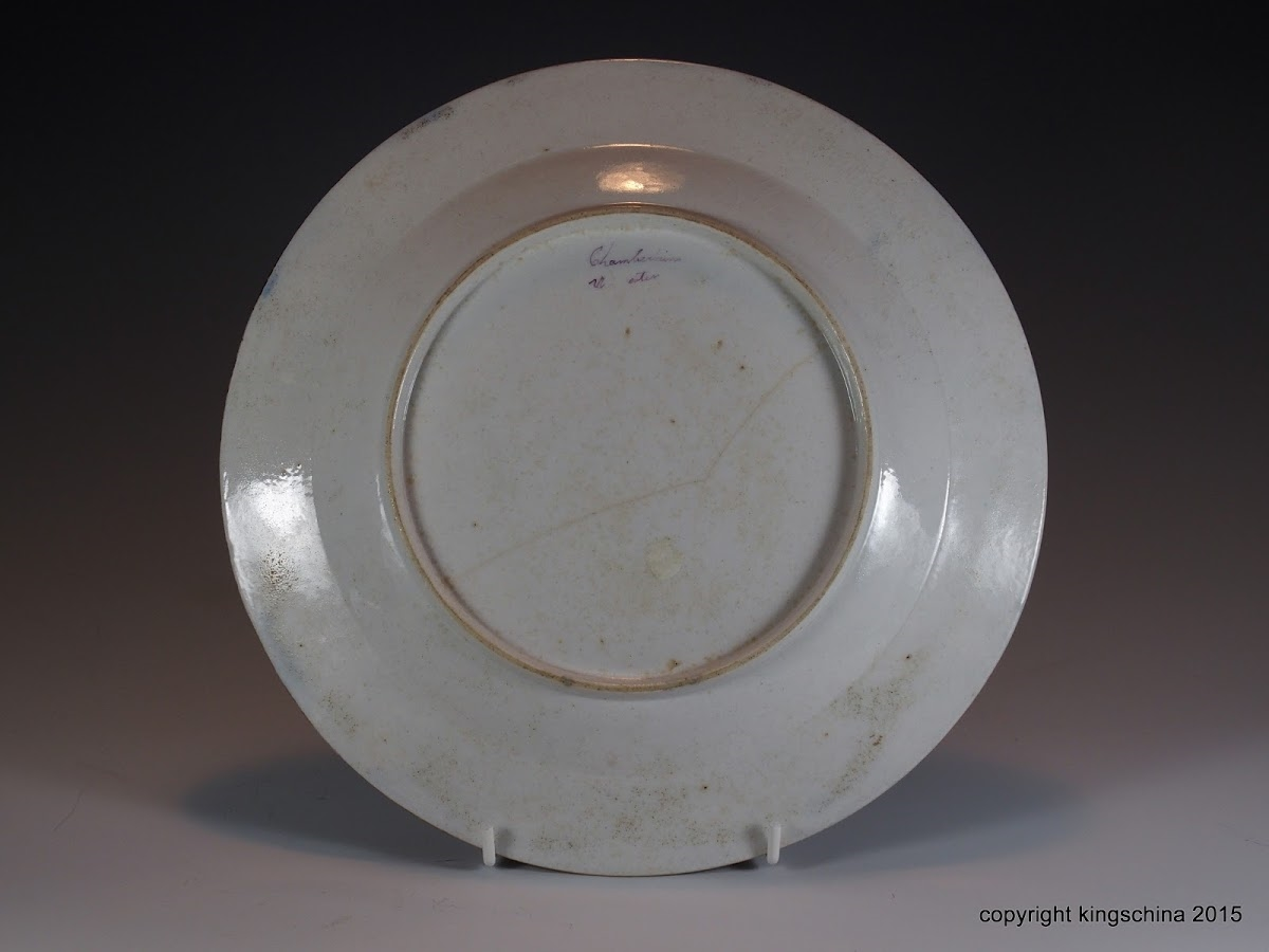 chamberlains worcester plate armorial porcelain scott