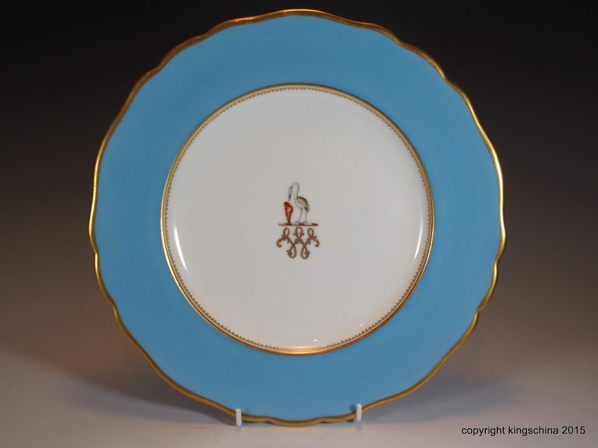 royal worcester armorial porcelain monogram plate walter family bearwood house coat arms crest