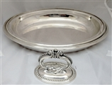 A Victorian Plated Oval Beaded Entree Dish Circa 1890