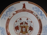 1720 Chinese Armorial Porcelain Charger LUTWYCHE with BAGNALL in Pretence Coat of Arms Crest
