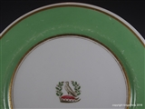 Flight Barr Barr Armorial Porcelain Worcester Plate Family Crest Coat Arms